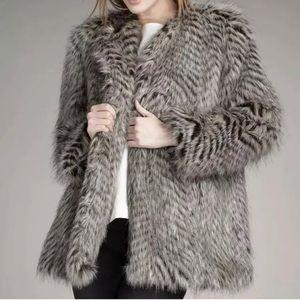 🎀$698 Marc Jacobs Rickie Raccoon Faux Fur Coat🎀